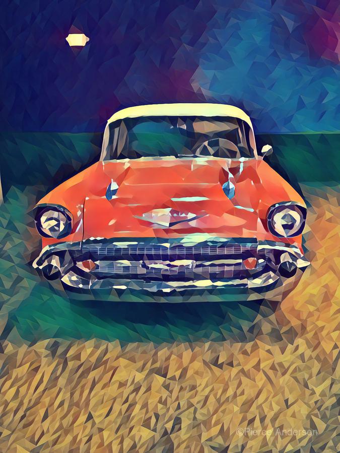57 chevy car art  Print