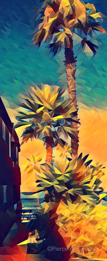 manhattan beach palm trees  Print