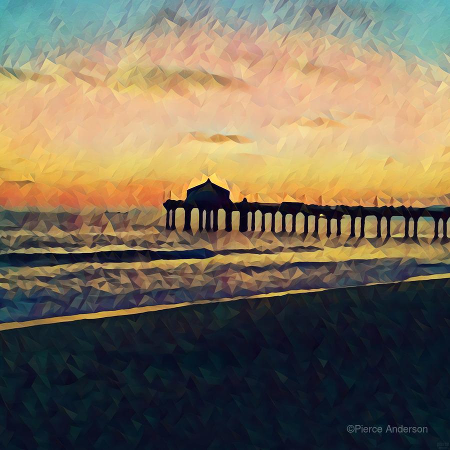 manhattan beach sunset  Print