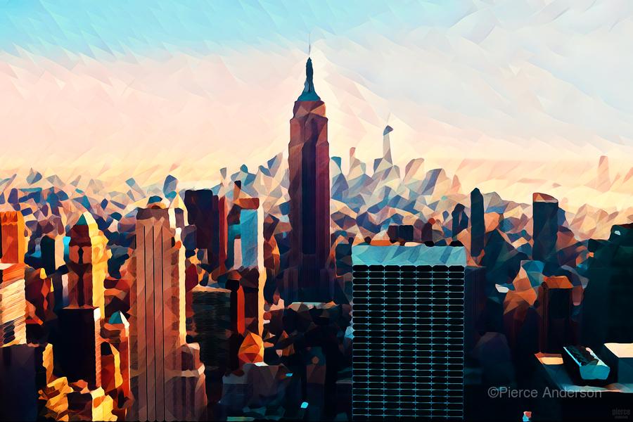 new york city skyline  Print