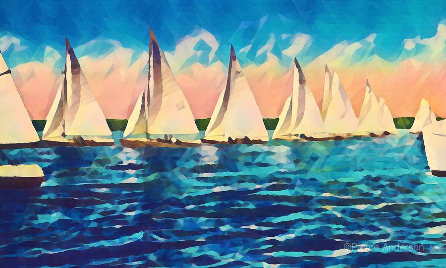 sail boats art  Print
