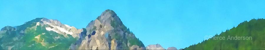seattle mountains  Print