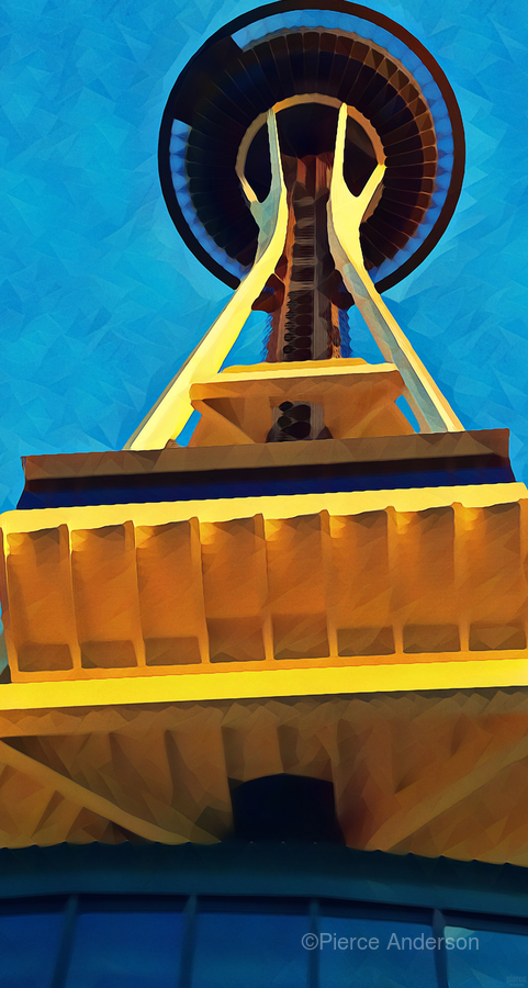 seattle space needle abstract  Print