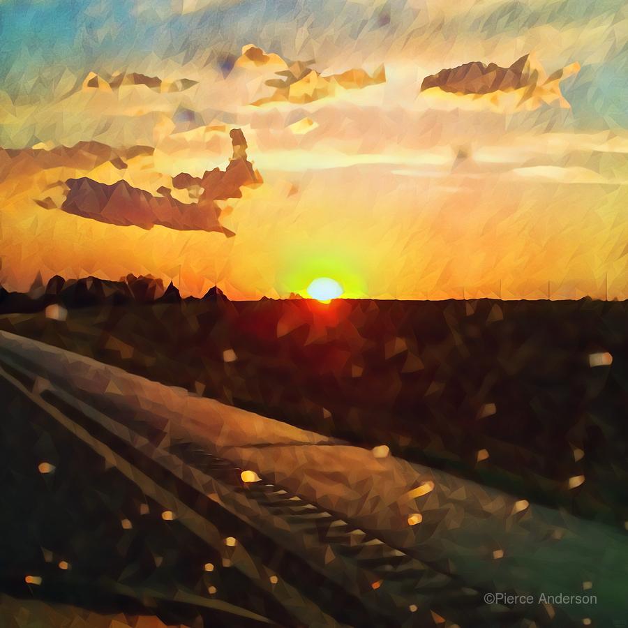 windshield raindrops two  Print