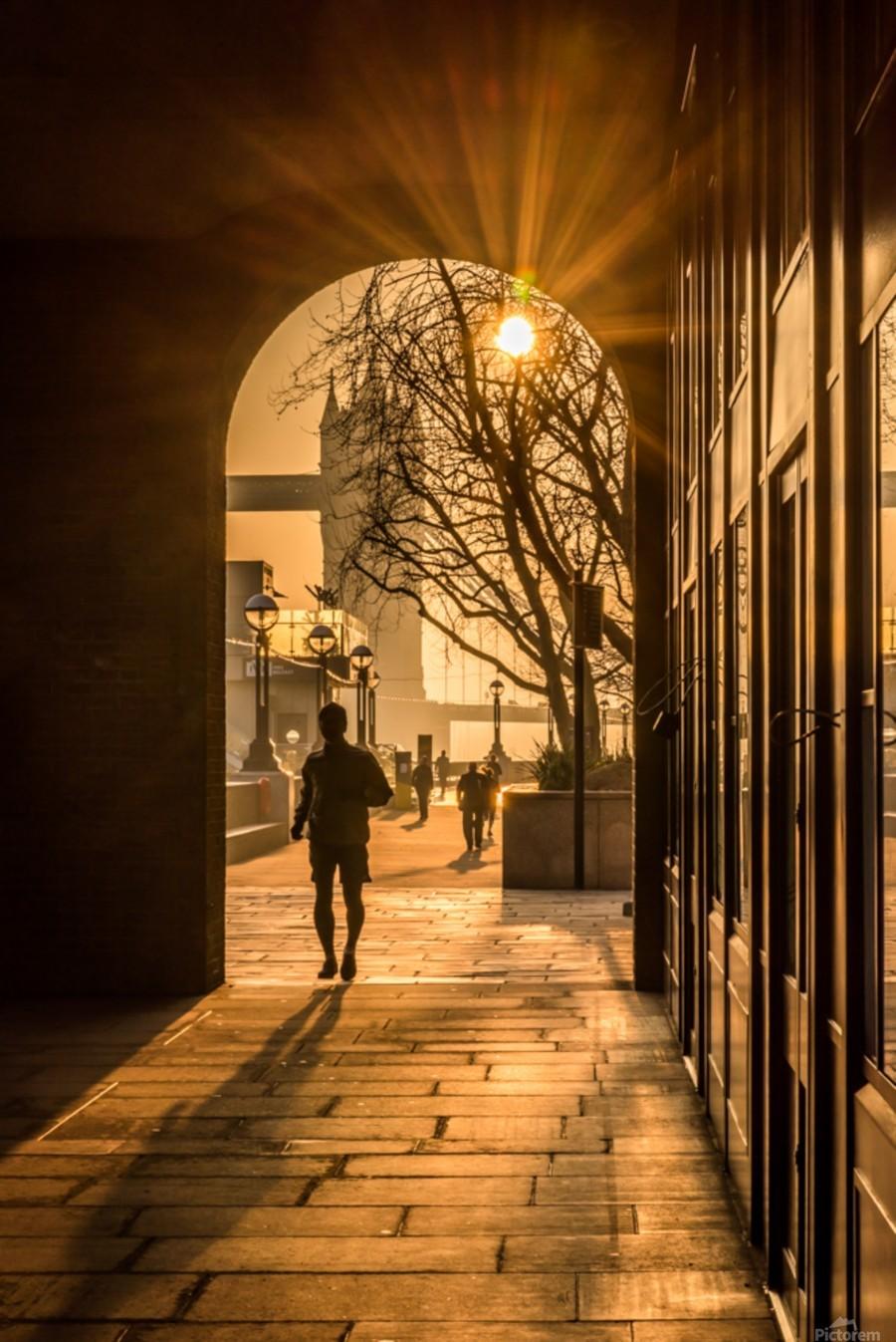 Silhouette  Tower Bridge London  Imprimer