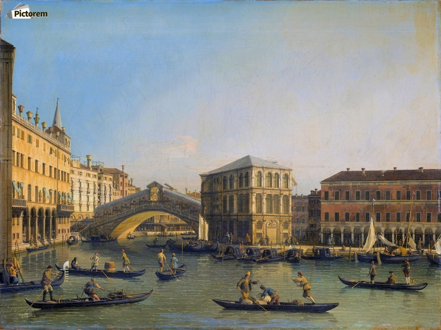 Rialto Bridge Canaletto  Print