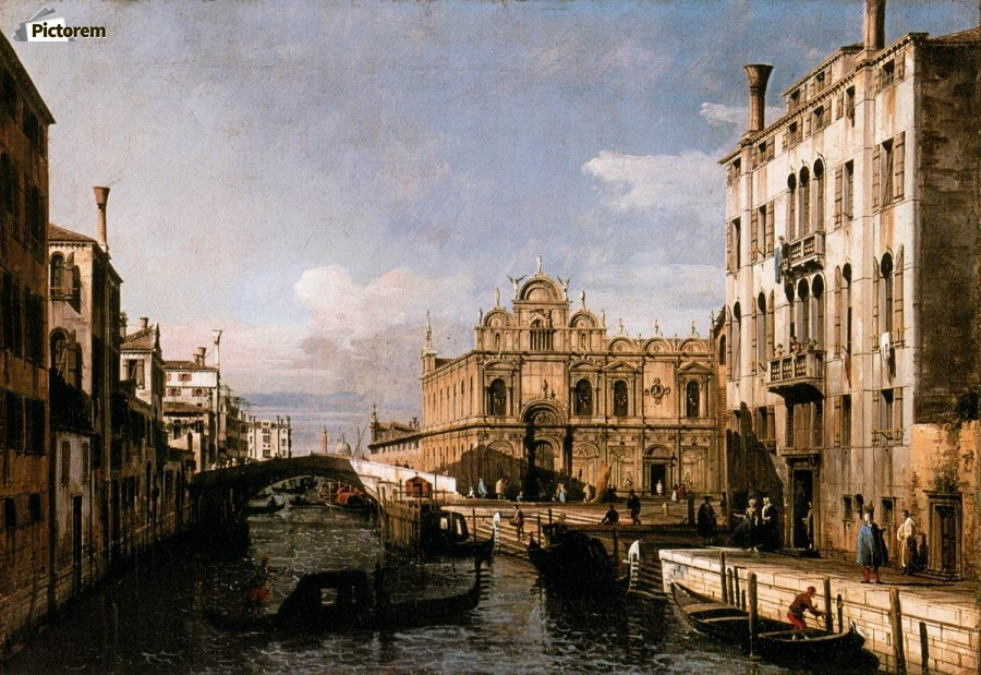 Rio dei Mendicanti with the Scuola di San Marco  Print