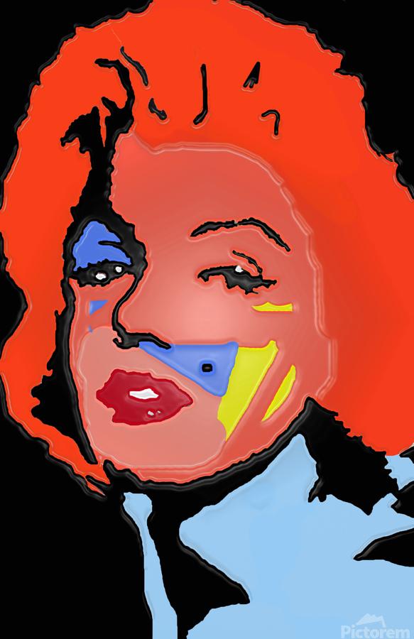 Marilyn in full color  Print