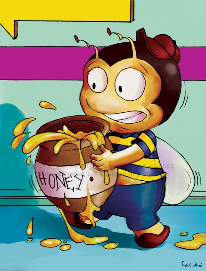 Be Careful with the Honey Buster Bee  Print