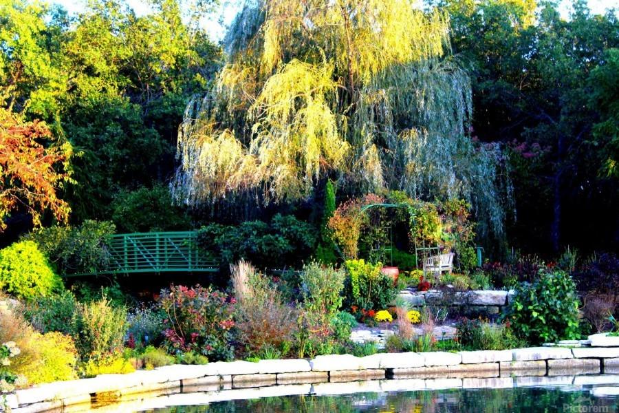 Reflections of a Monet Garden  Print