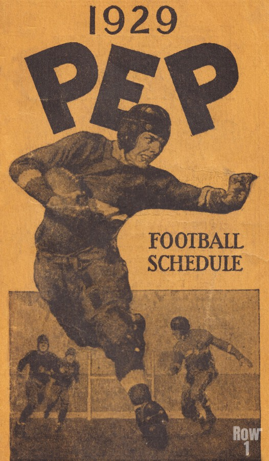 1929 Pep Football Schedule Art  Print