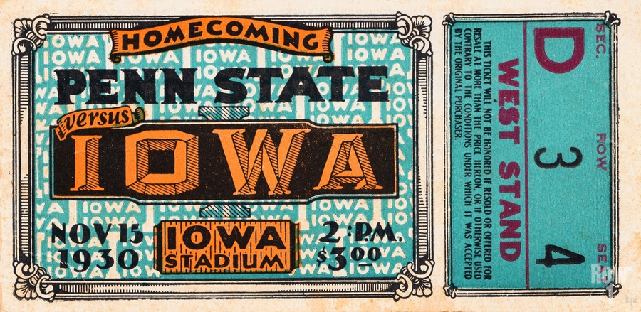 1930 Iowa vs. Penn State  Print