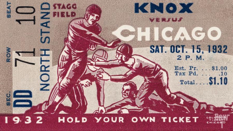 1932 Knox College vs. University of Chicago  Print