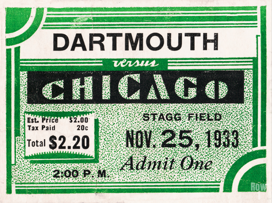 1933 Dartmouth Indians vs. Chicago Maroons  Print