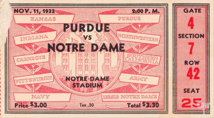 1933 Notre Dame vs. Purdue  Print