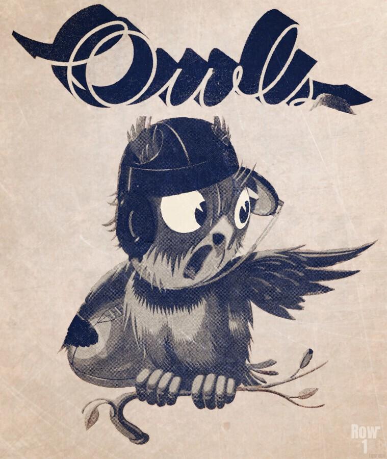 1933  Rice Owls Football  Print