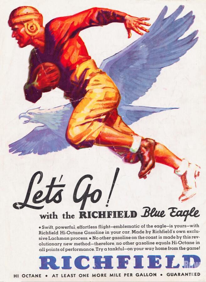 1933 Richfield Gasoline Ad  Print