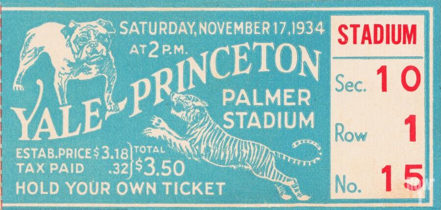 1934 Yale vs. Princeton  Print