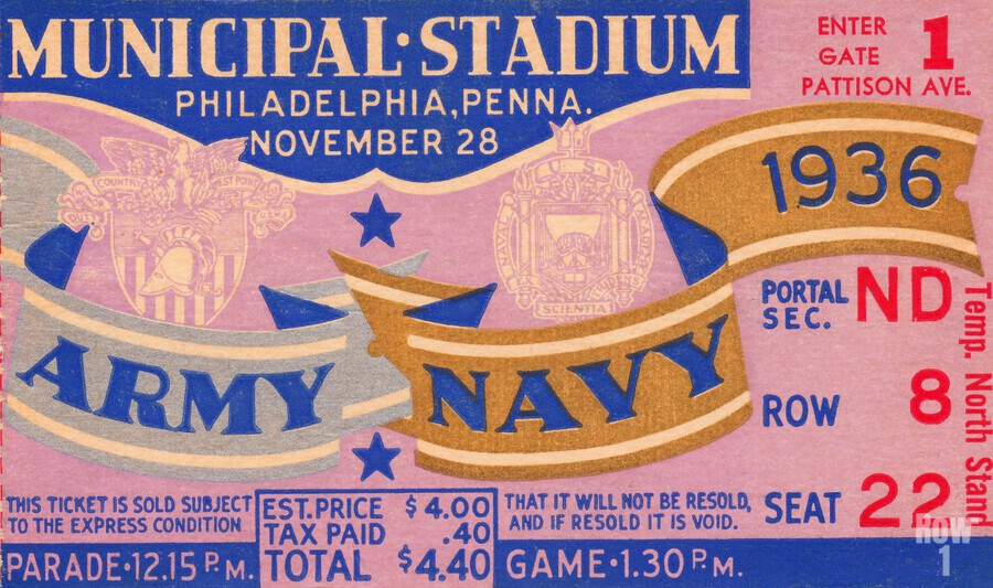 1936 Army Navy Game  Print