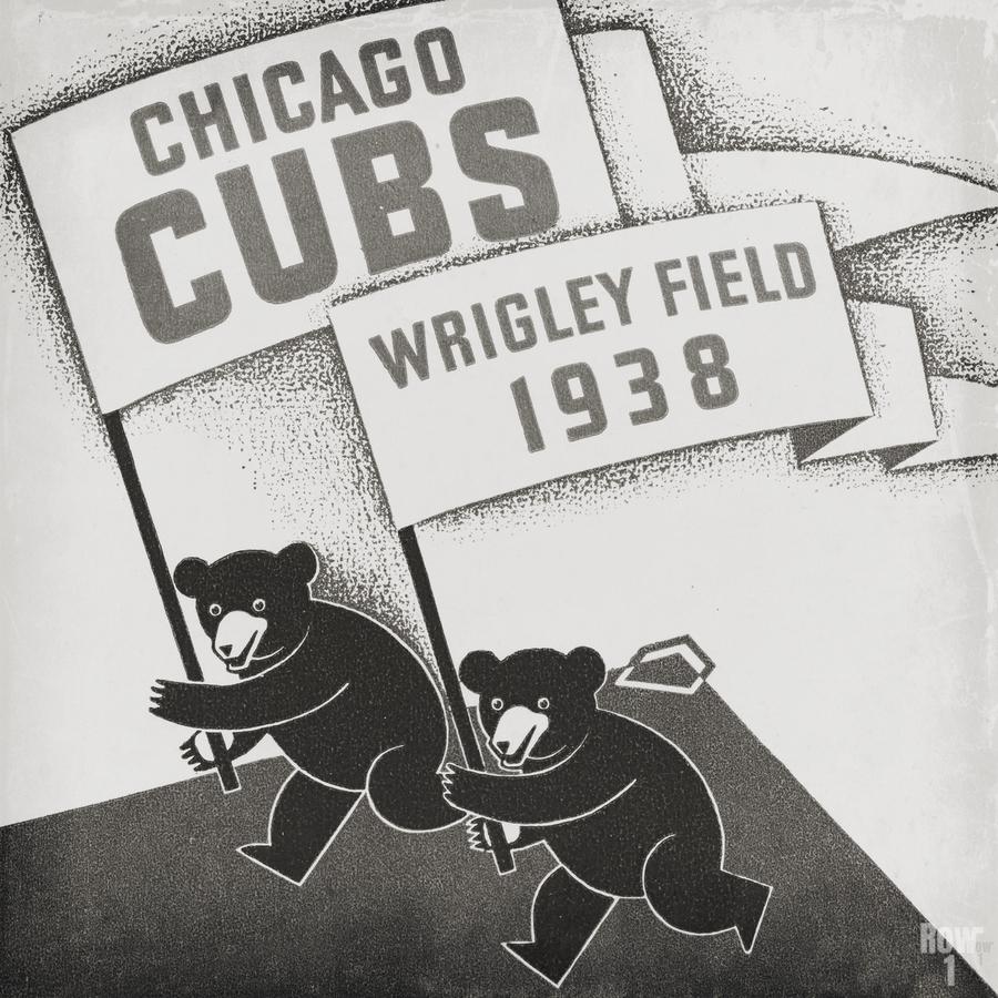 1938 Chicago Cubs Remix Row 1  Print