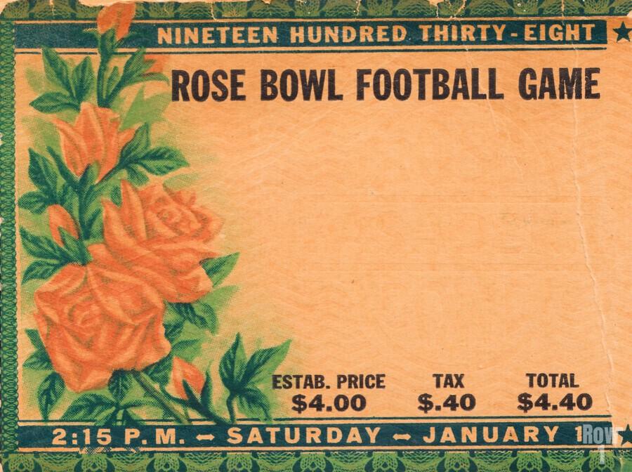 1938 Rose Bowl California Win  Print