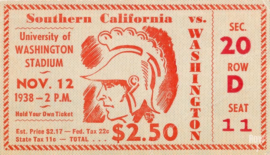 1938 USC Trojans vs. Washington Huskies  Print