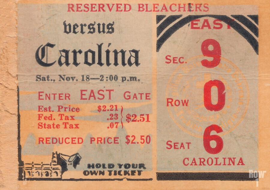 1939 North Carolina vs. Duke  Print