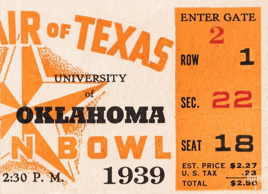 1939 Texas Longhorns vs. Oklahoma Sooners  Print