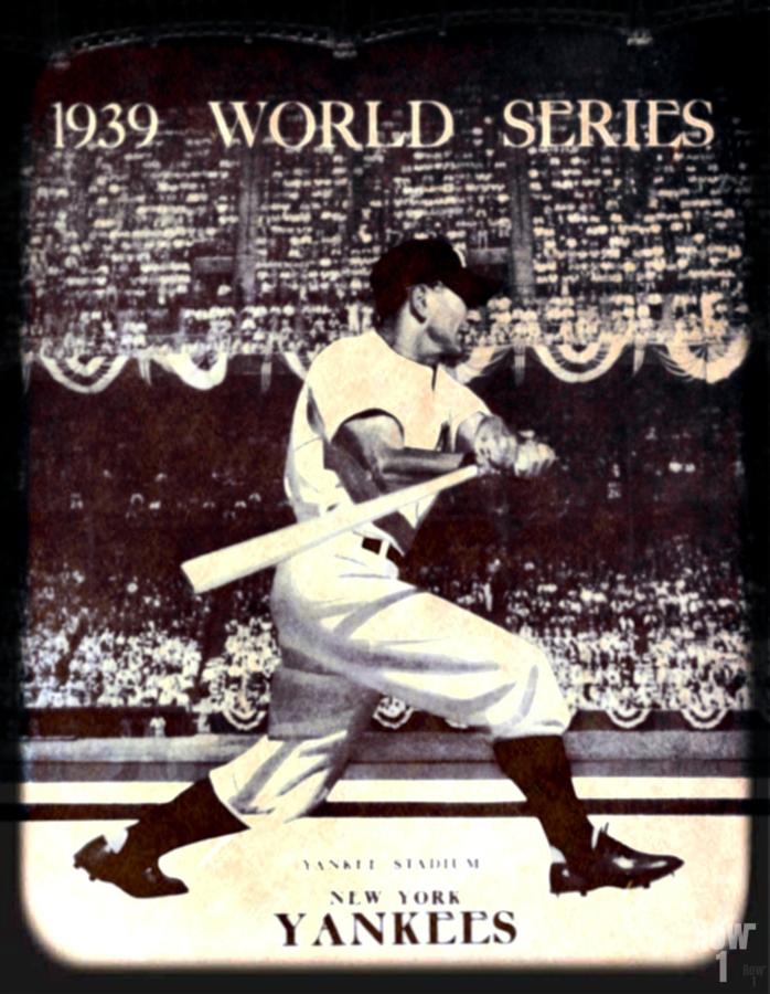 1939 Vintage World Series Program Cover Art Remix by Row 1  Print