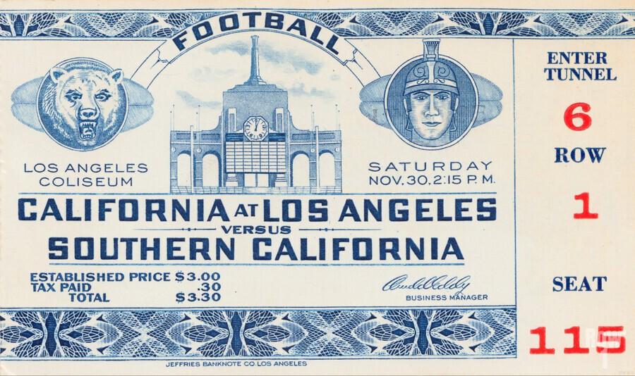 1940 USC vs. UCLA  Print