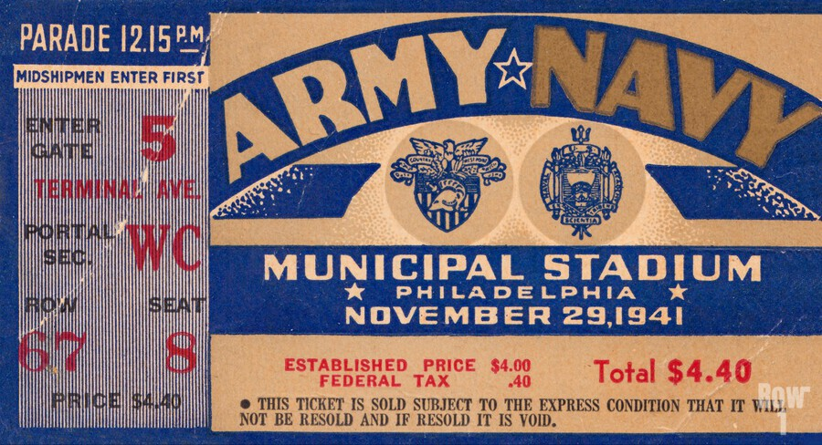 1941 Army Navy Game  Print