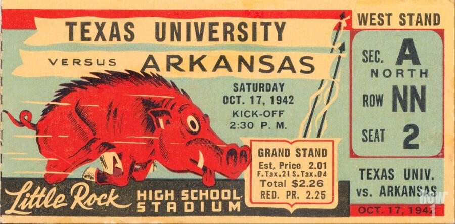 1942 Arkansas vs. Texas  Print