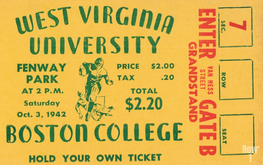 1942 Boston College Eagles vs. West Virginia Mountaineers  Print