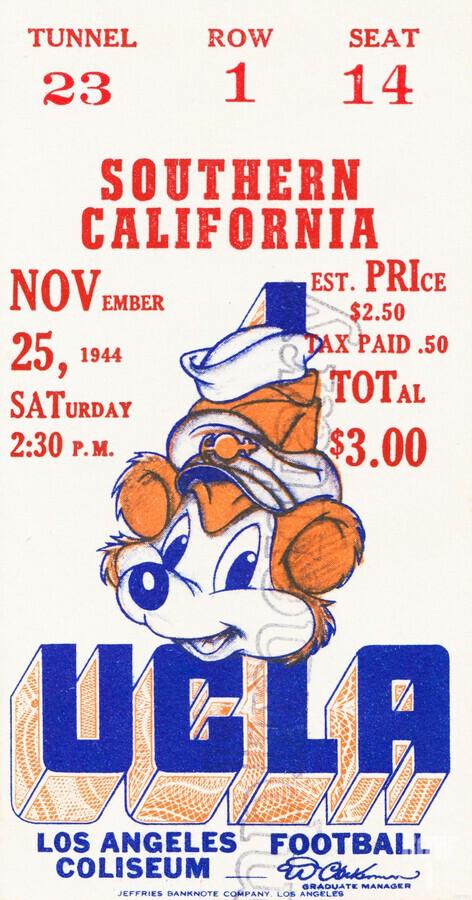 1944 USC vs. UCLA  Print