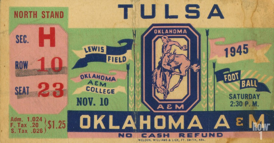 1945 Oklahoma A&M vs. Tulsa  Print