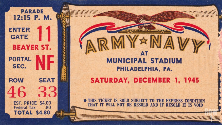 1945 Army Navy Game of the Century  Print