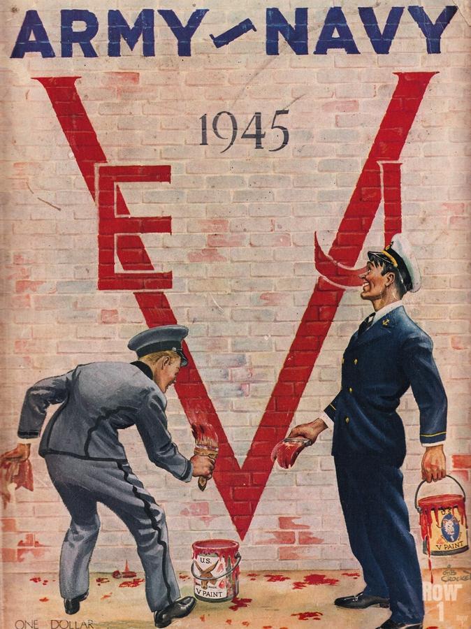 1945 Army Navy Football Program Canvas Art  Print