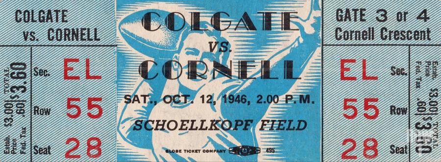 1946 Colgate Red Raiders vs. Cornell Big Red  Print