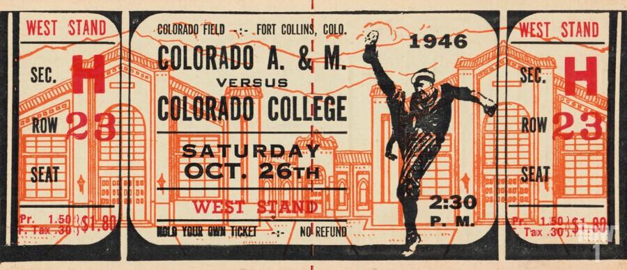 1946 Colorado College Tigers  vs. Colorado A&M Aggies  Print