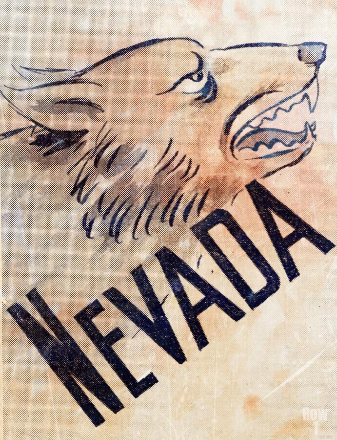 1946 Nevada Wolfpack Art  Print