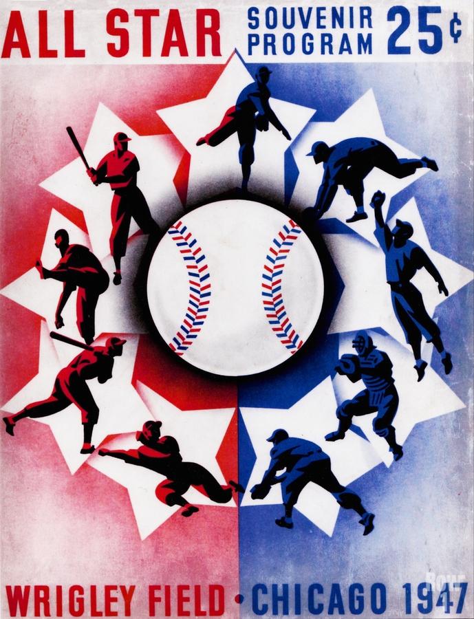 1947 Chicago All-Star Game Program Art  Print