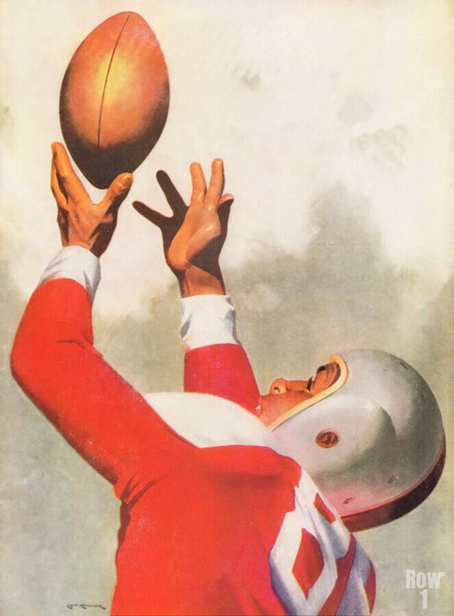 Sports Artist Lon Keller Football Art 1947  Print