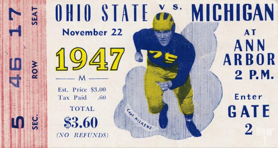 1947 Michigan Wolverines vs. Ohio State Buckeyes  Print