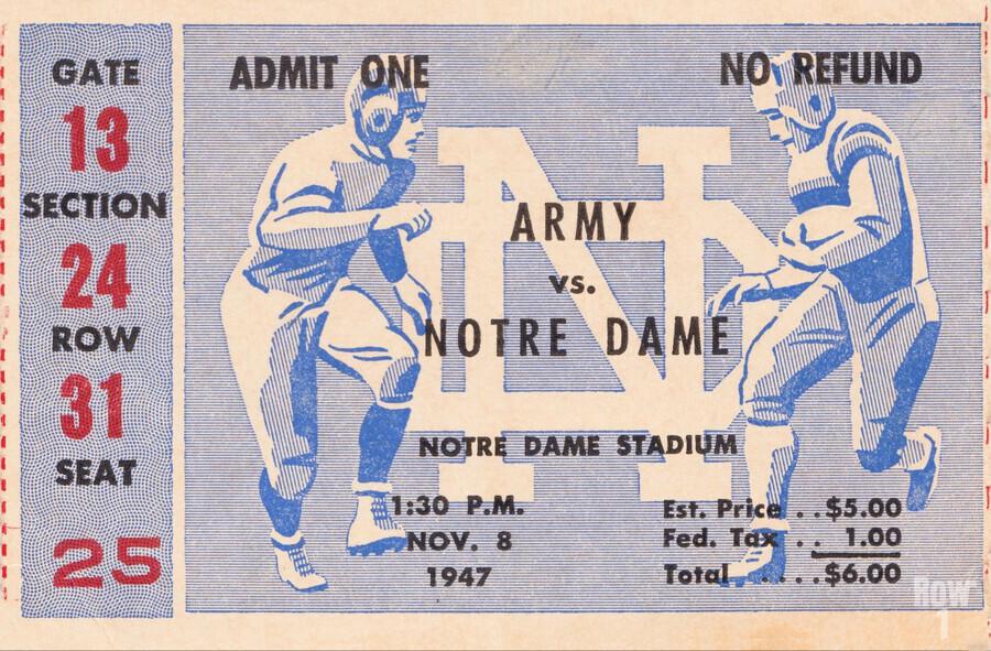 Black Friday Deals 1947 Notre Dame vs. Army  Print