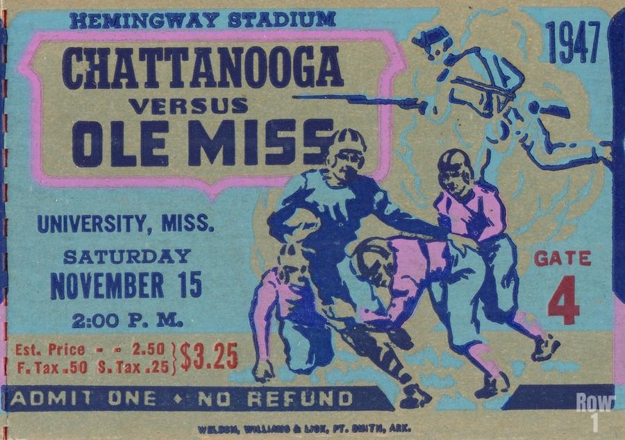 1947 Ole Miss Rebels vs. Chattanooga  Print