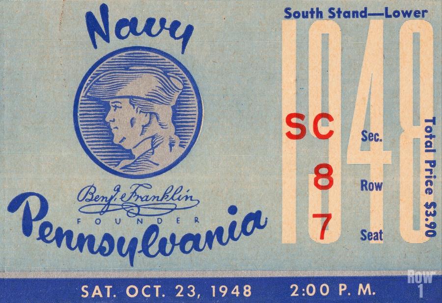 1948 Penn Quakers vs. Navy Midshipmen  Print