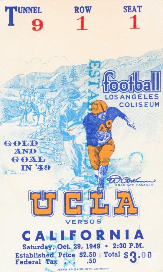 1948 UCLA vs. California  Print