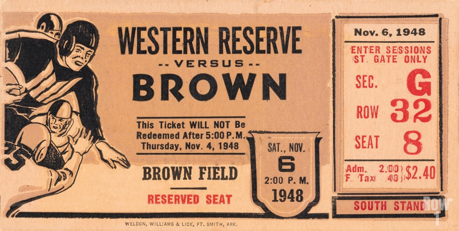 1948 Western Reserve Red Cats vs. Brown Bears  Print
