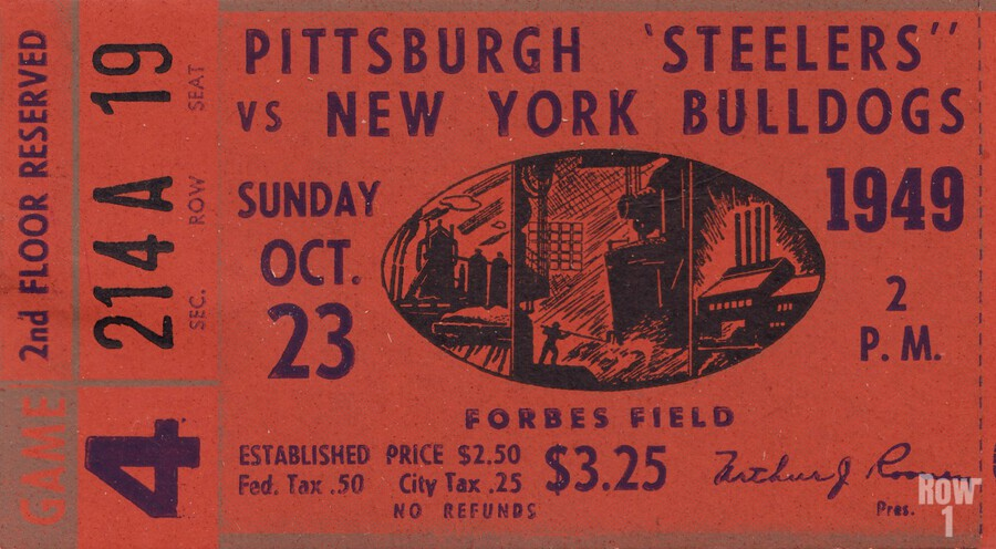 1949 Pittsburgh Steelers vs. New York Bulldogs  Print