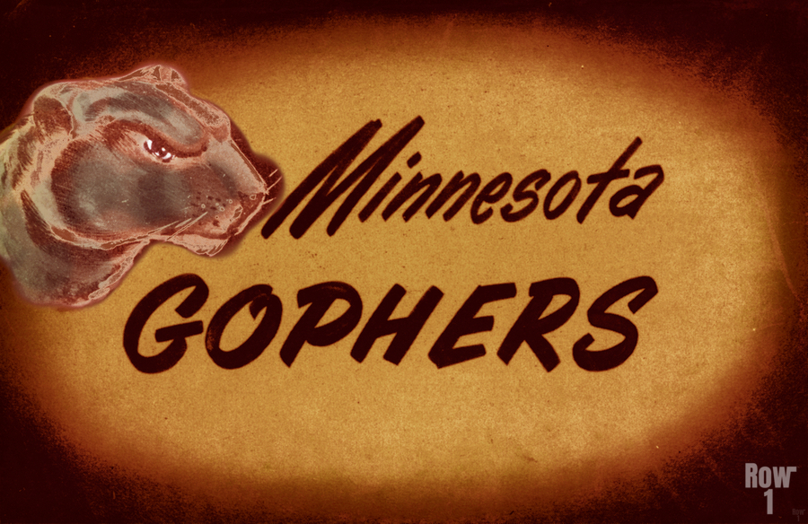 1950 Vintage Minnesota Golden Gopher Art  Print